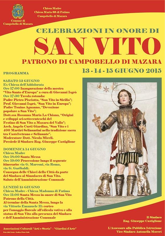 Trapaniok campobello tre giorni di celebrazioni in onore di san vito patrono - San vito a tavola ...